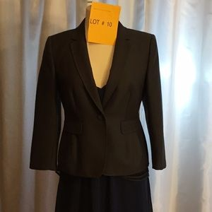 Fitted charcoal gray blazer lace trimmed in  4